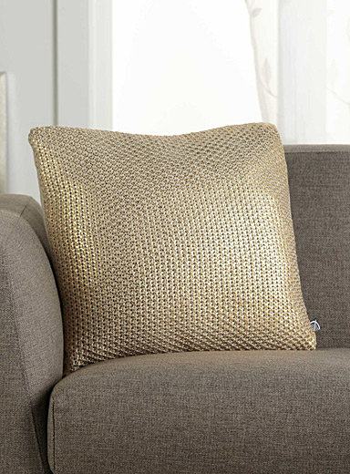 Gold metallic cushion <br>45 x 45 cm