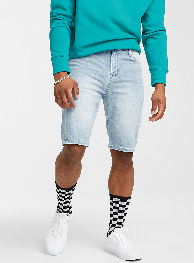 Djab Baby Blue Light denim short for men