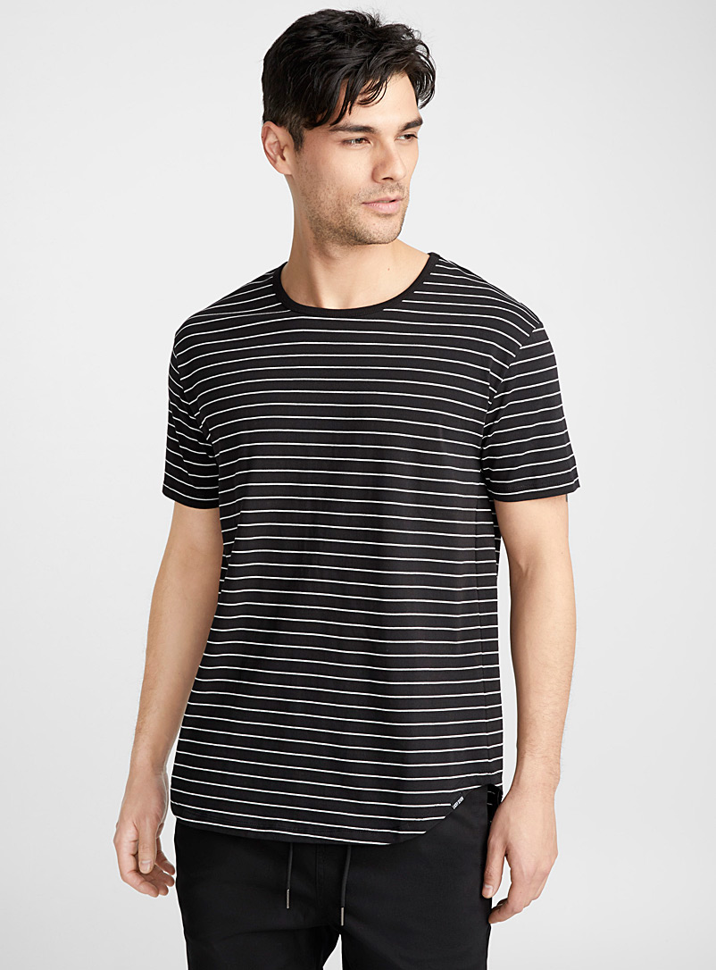 Monochrome striped T-shirt - Prints - Black
