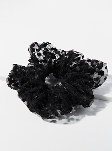 Dotted tulle XL scrunchie
