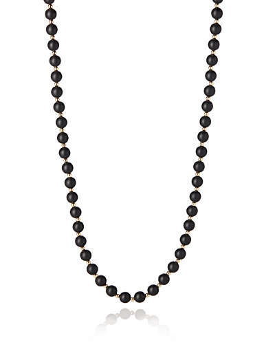 Two-tone bead necklace
