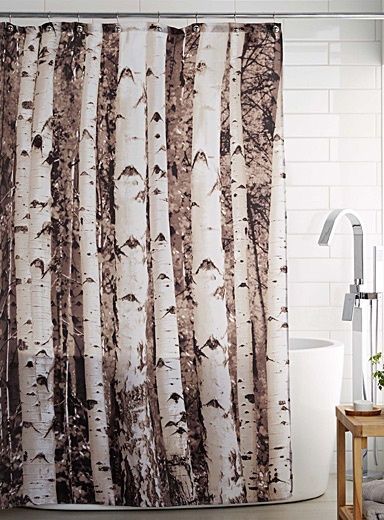 Birch forest shower curtain