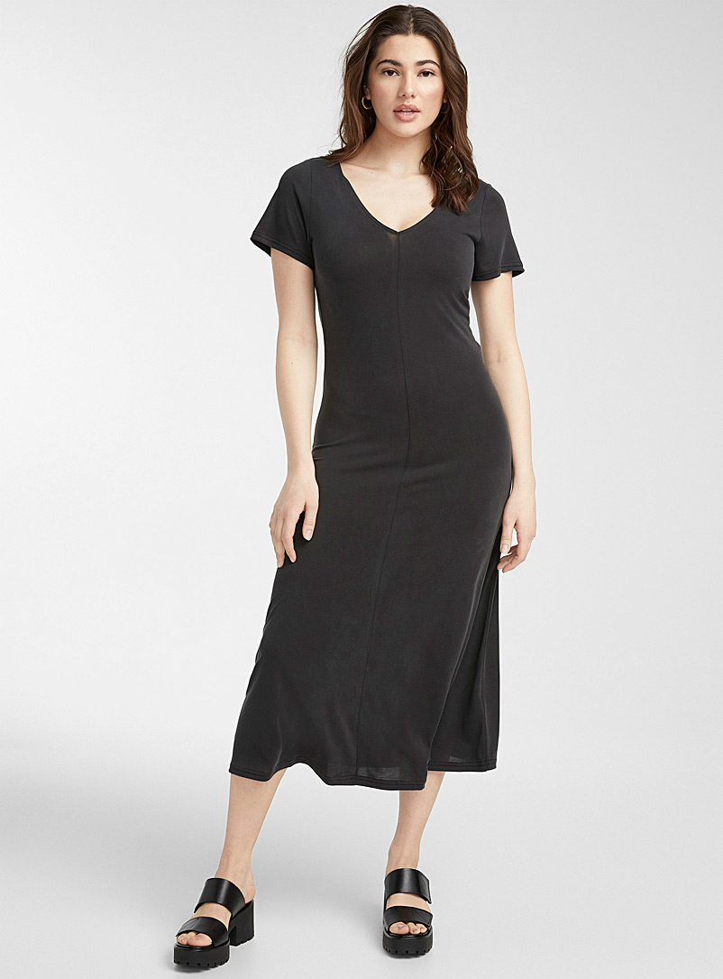 Minimum: La robe maxi fluide modal TENCEL* Oxford pour femme