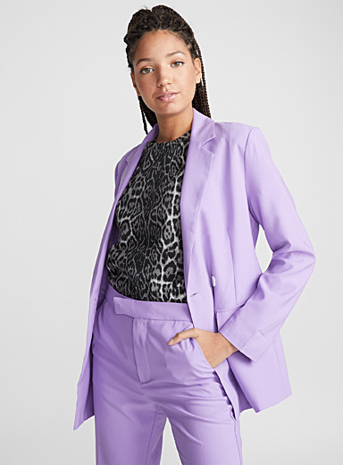 Lilac double-breasted jacket