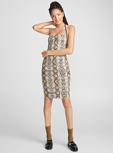 Serpent fitted dress