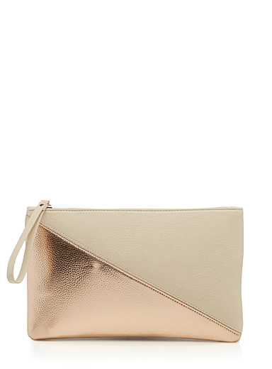 Two-tone graphic clutch