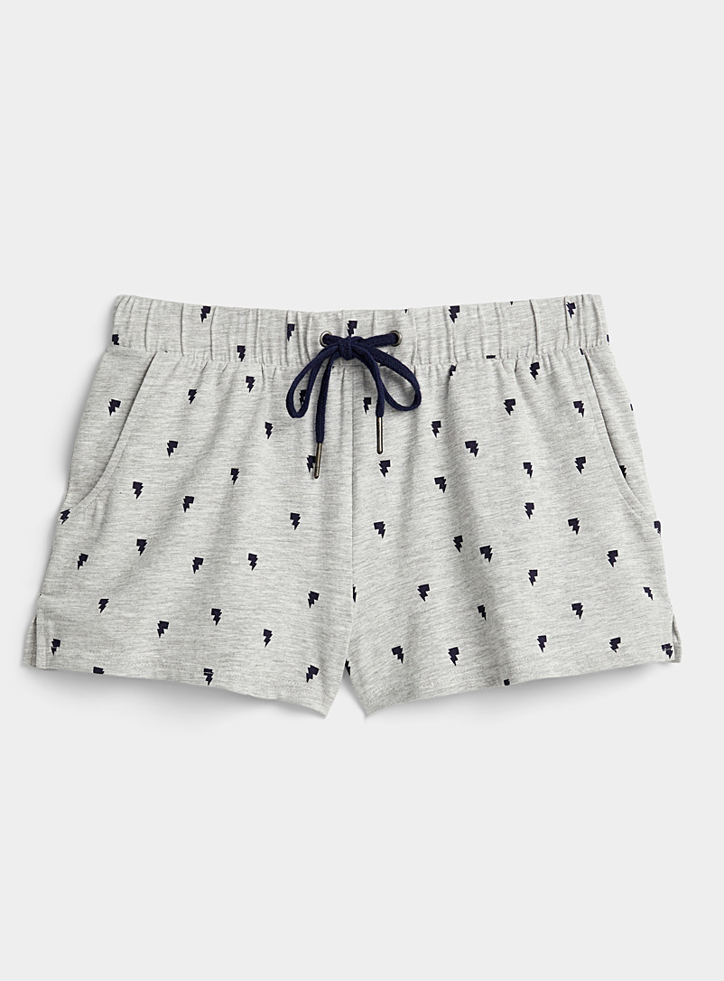 Miiyu x Twik Patterned Grey Cute pattern organic cotton boxer for women