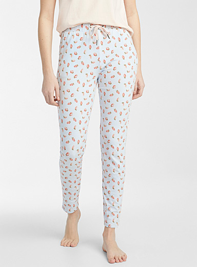 Patterned organic cotton pant
