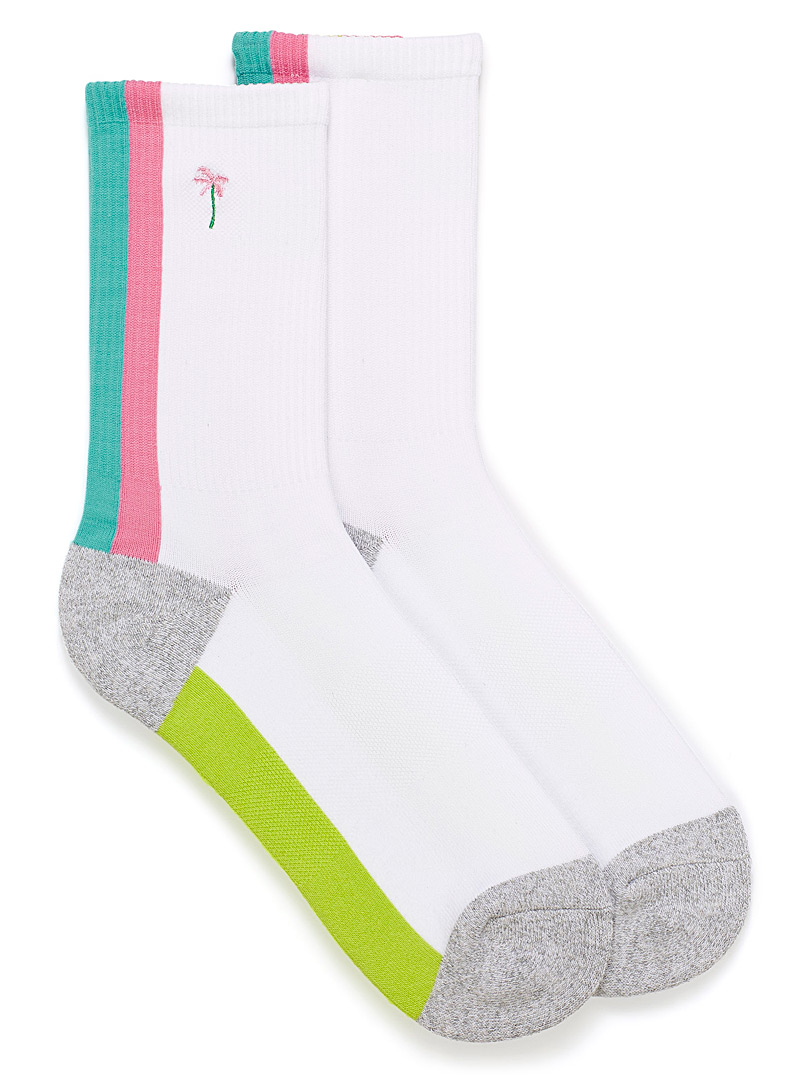 Tropical palm tree ankle socks - Socks - White