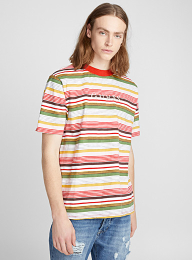 Retro striped logo T-shirt