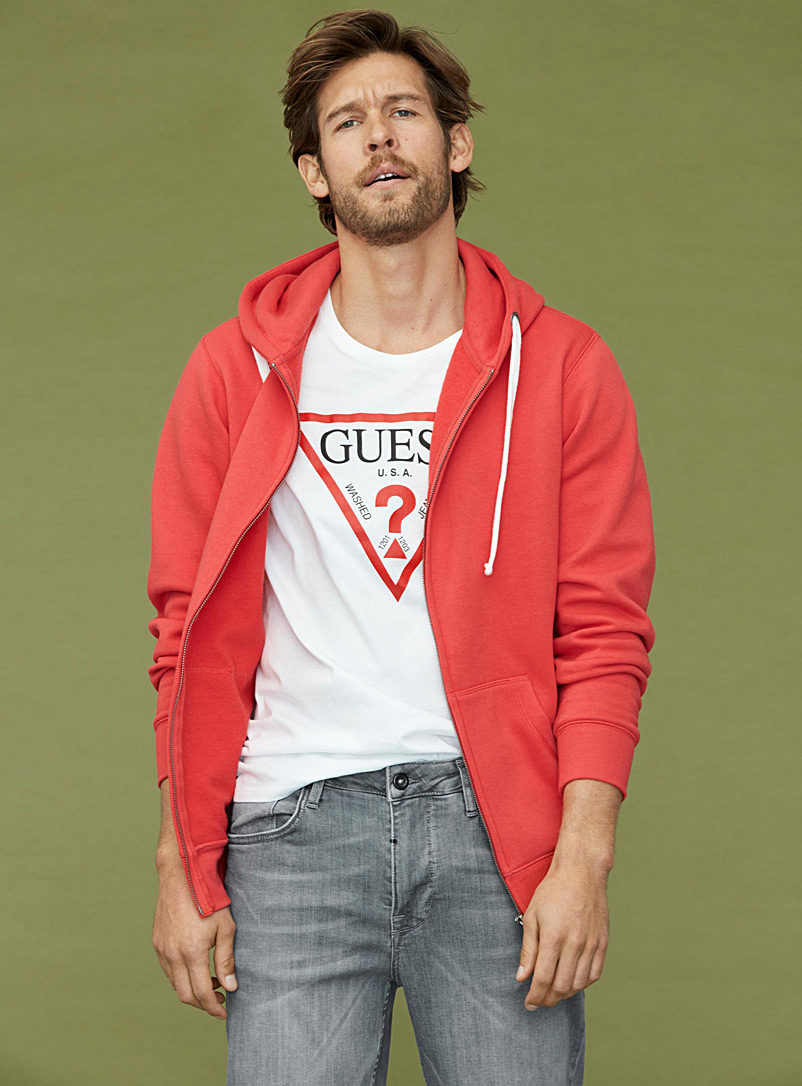 Guess White Classic logo T-shirt for men