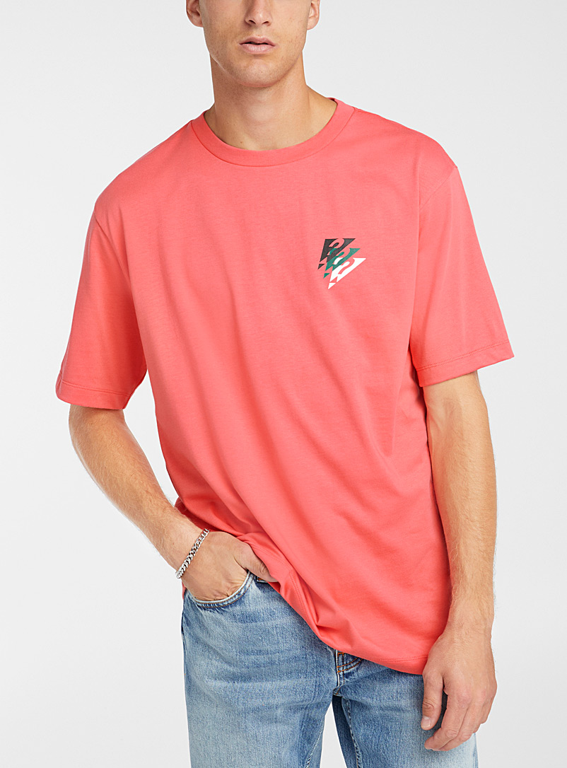 Guess Dusky Pink Retro logo T-shirt for men