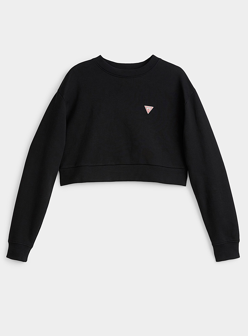 Accent logo cropped sweatshirt