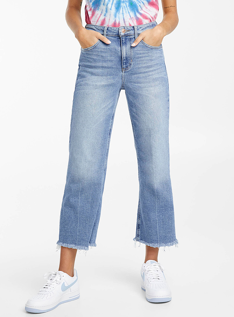 Wide-leg high-rise jean - High Rise - Slate Blue