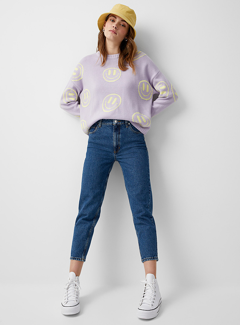 Guess Sapphire Blue Sky blue mom jean for women