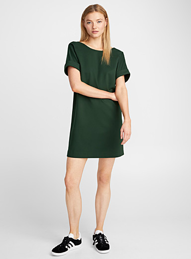 Engineered jersey oversized dress