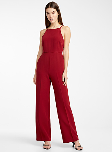 Square-neck jumpsuit