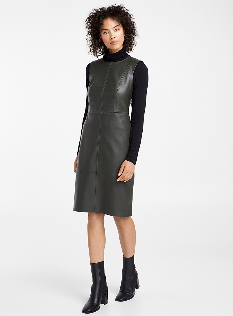 faux-leather-sheath-dress