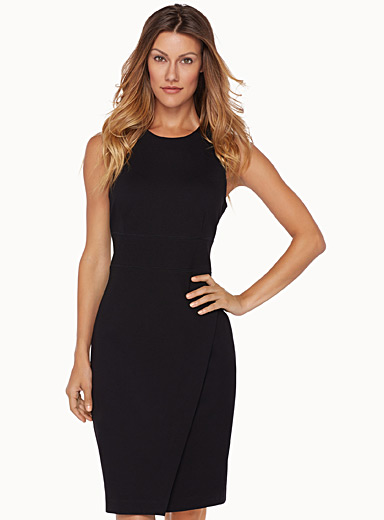 Crossover sheath dress