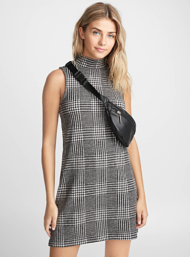 Tartan fleece dress