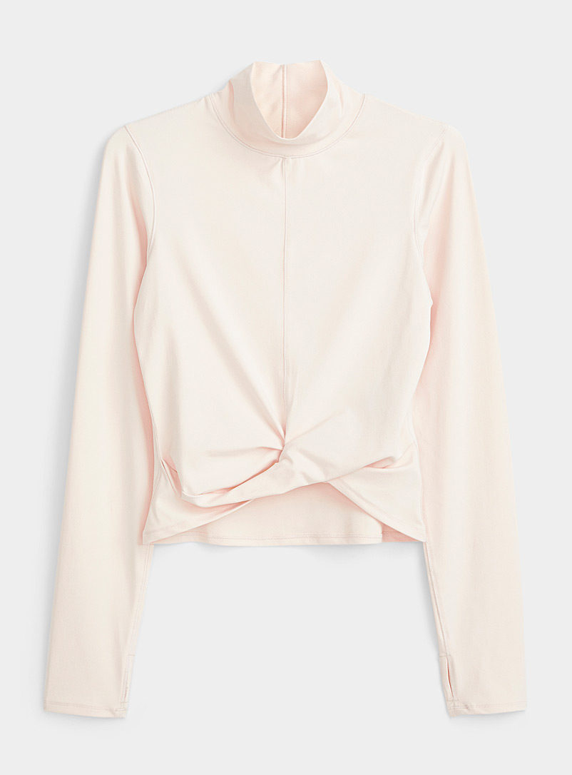 I.FIV5 Peach Twisted high-neck top for women