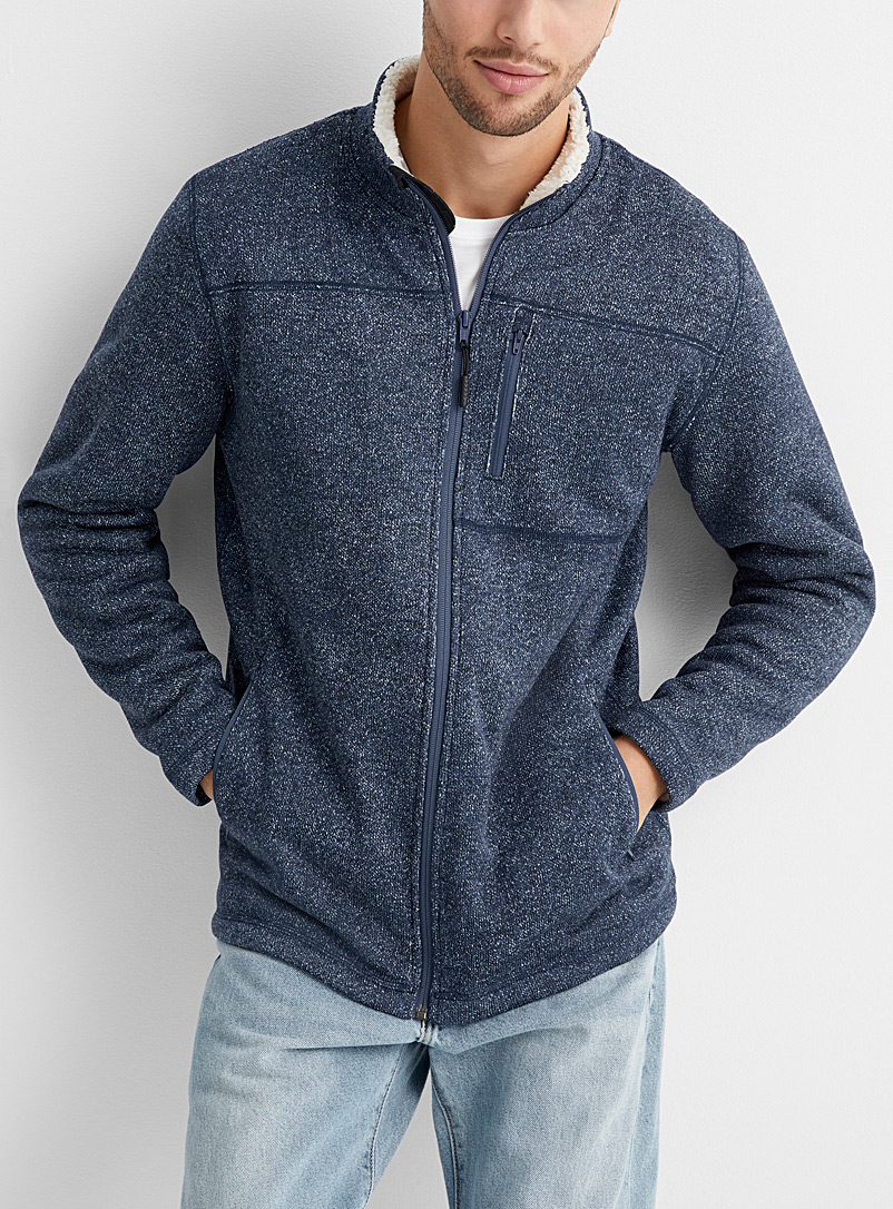 Nomad sherpa and knit cardigan