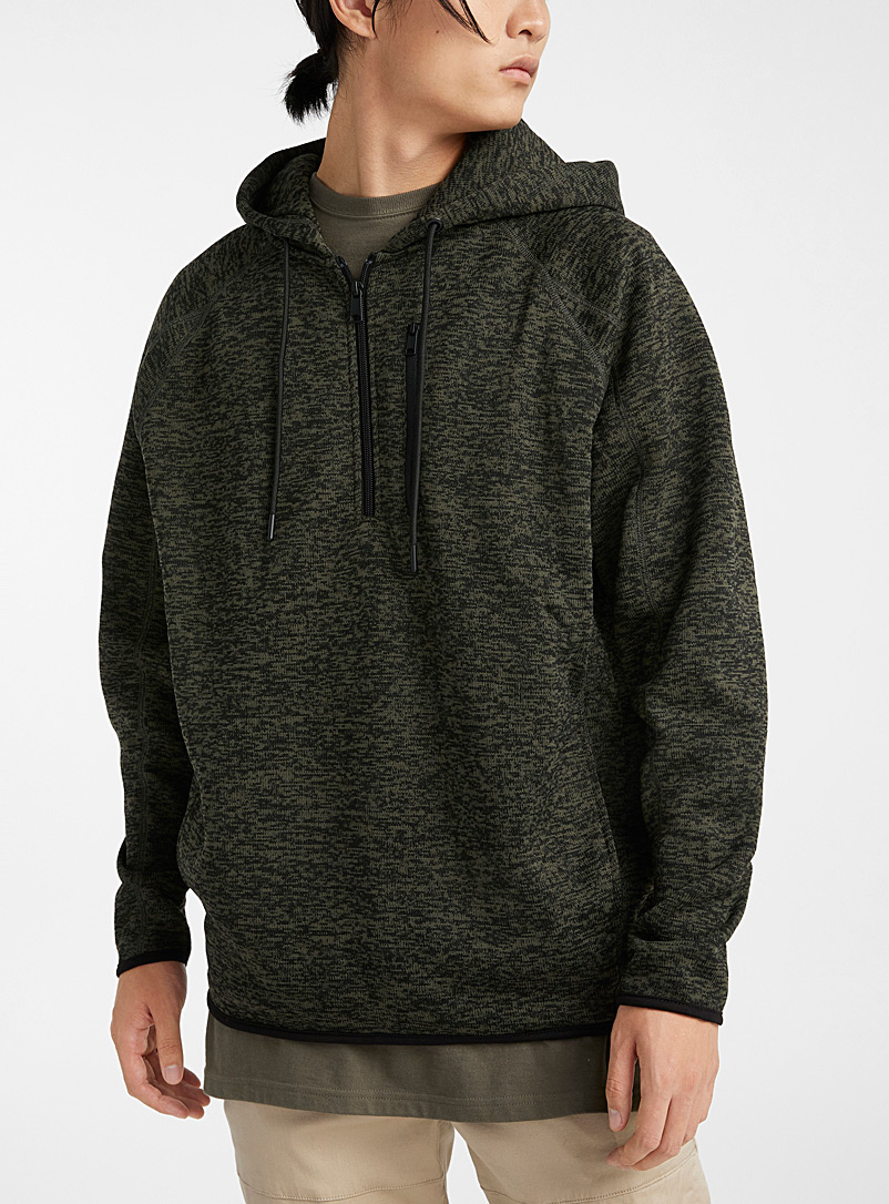 Le sweat à capuchon jersey chiné