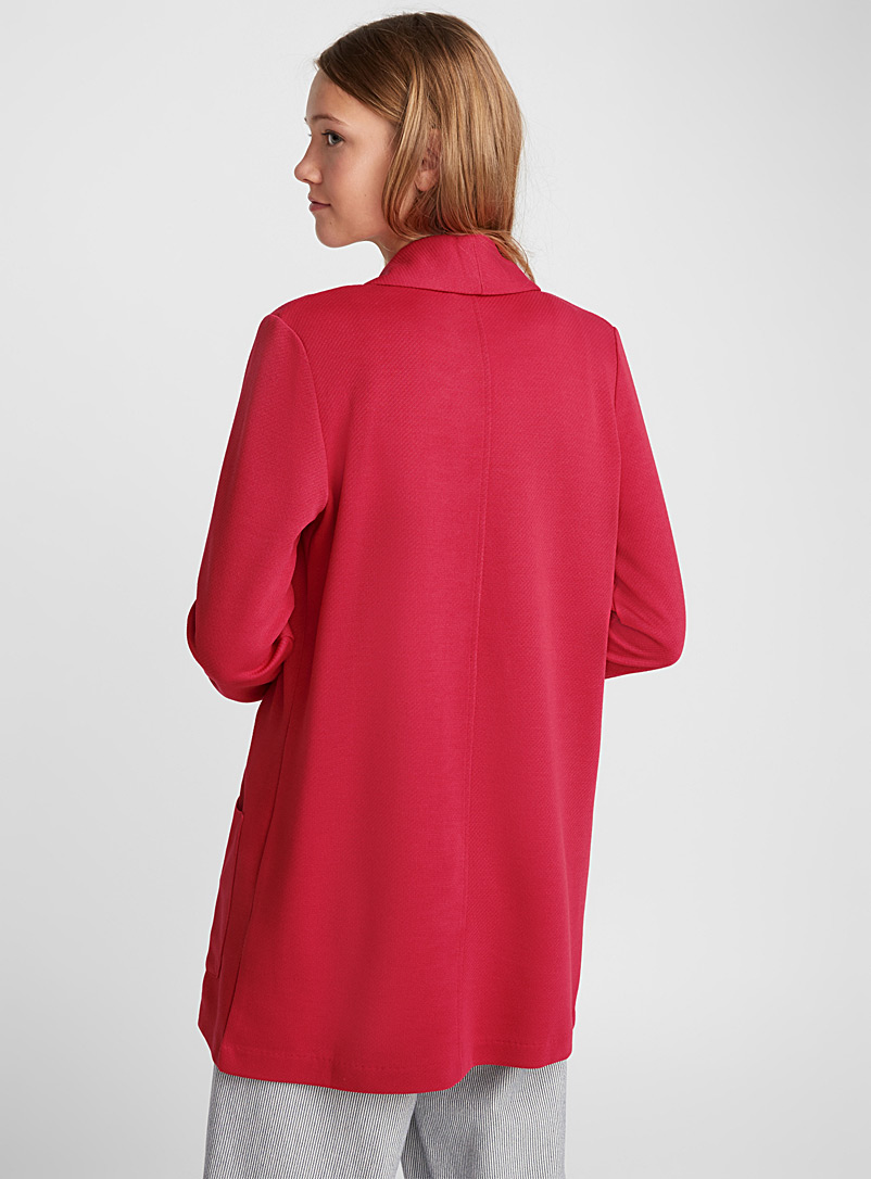 Honeycomb weave jacket - Jackets - Red
