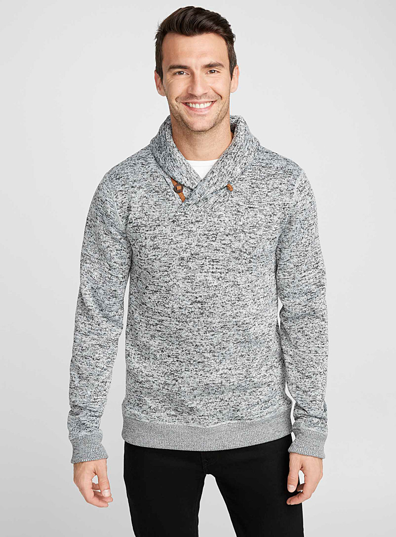 Shawl-collar sweatshirt - Sweatshirts & Hoodies - Grey