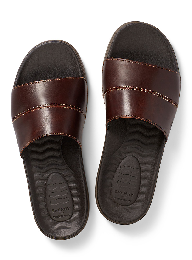 Sperry Top Sider Brown Plushwave Dock slides Men for men