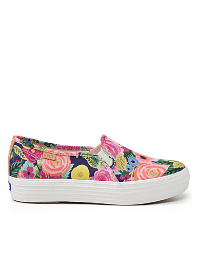 Le slip-on Triple Decker Juliet Floral <br>Femme