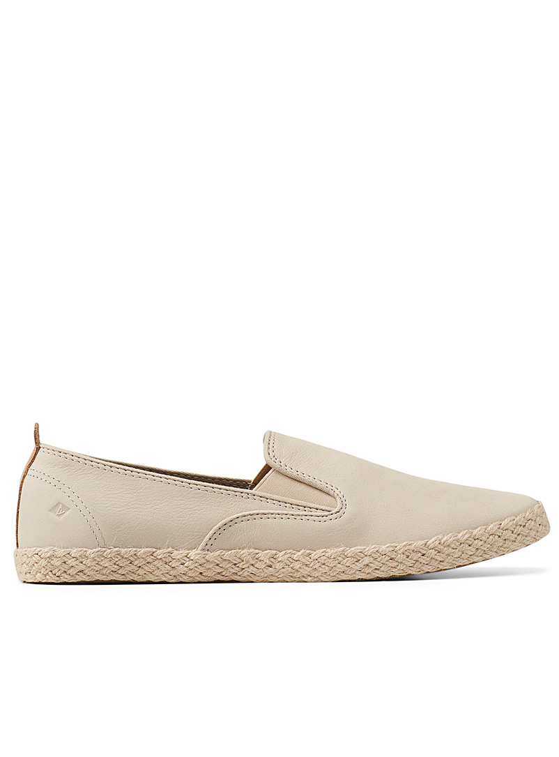 Sperry Top Sider Ivory White Sailor Twin Gore slip-ons for women