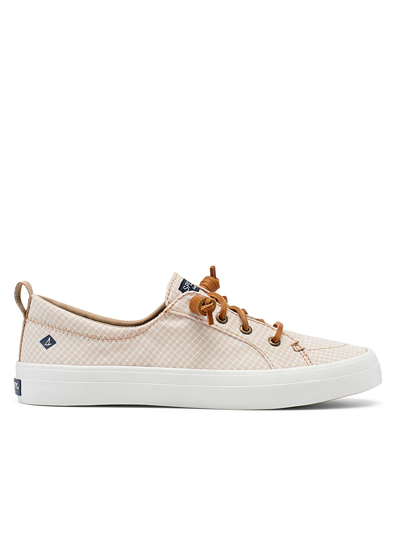 Sperry Top Sider Cream Beige Crest Vibe mini-check sneakers  Women for women