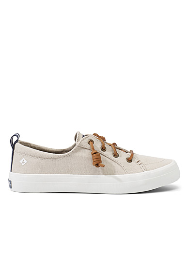 Sperry Top Sider Ivory White Crest Vibe linen sneakers  Women for women