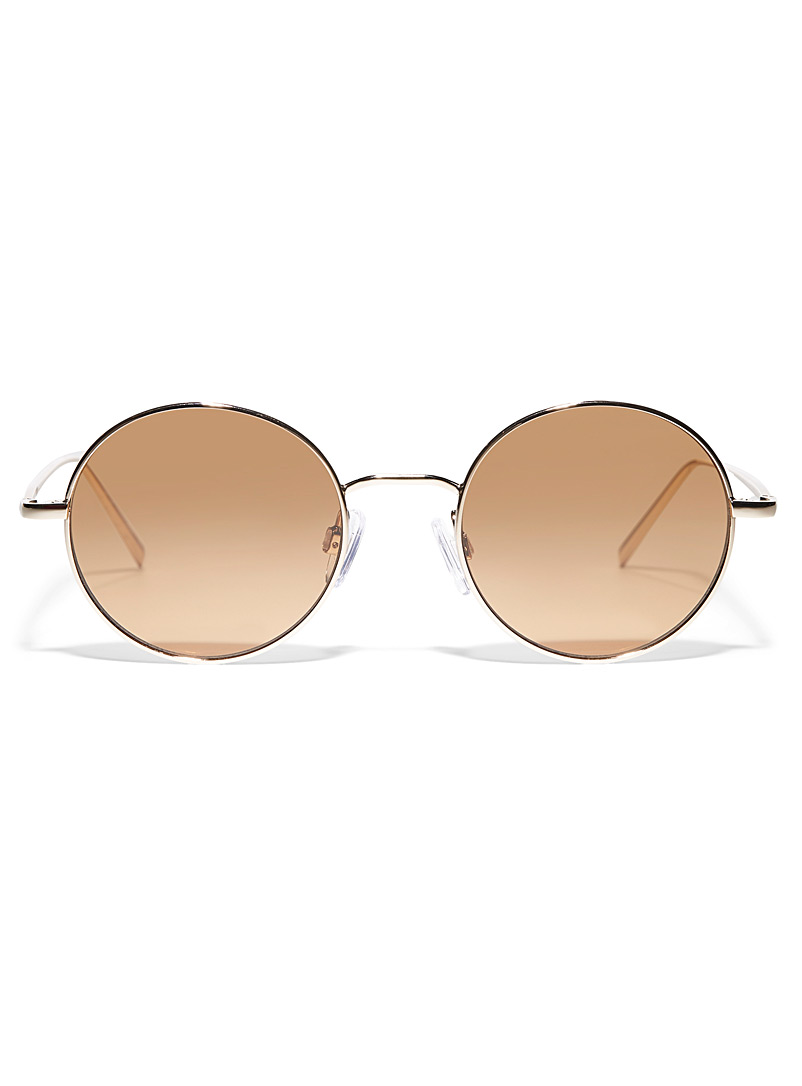 DKNY Assorted Metallic round sunglasses for women