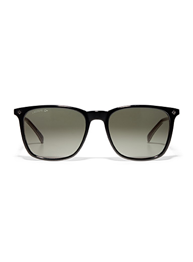 Metallic accent square sunglasses