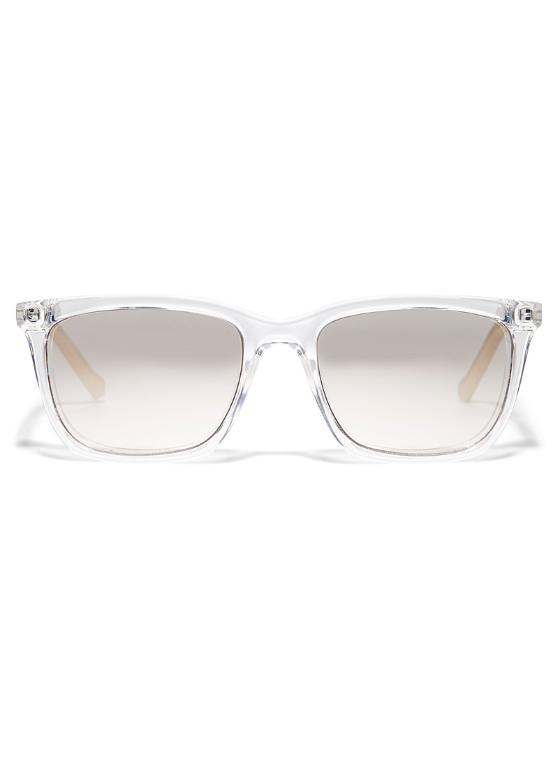 DKNY Clear Translucent rectangular sunglasses for women