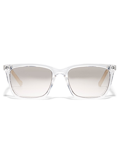 Translucent rectangular sunglasses