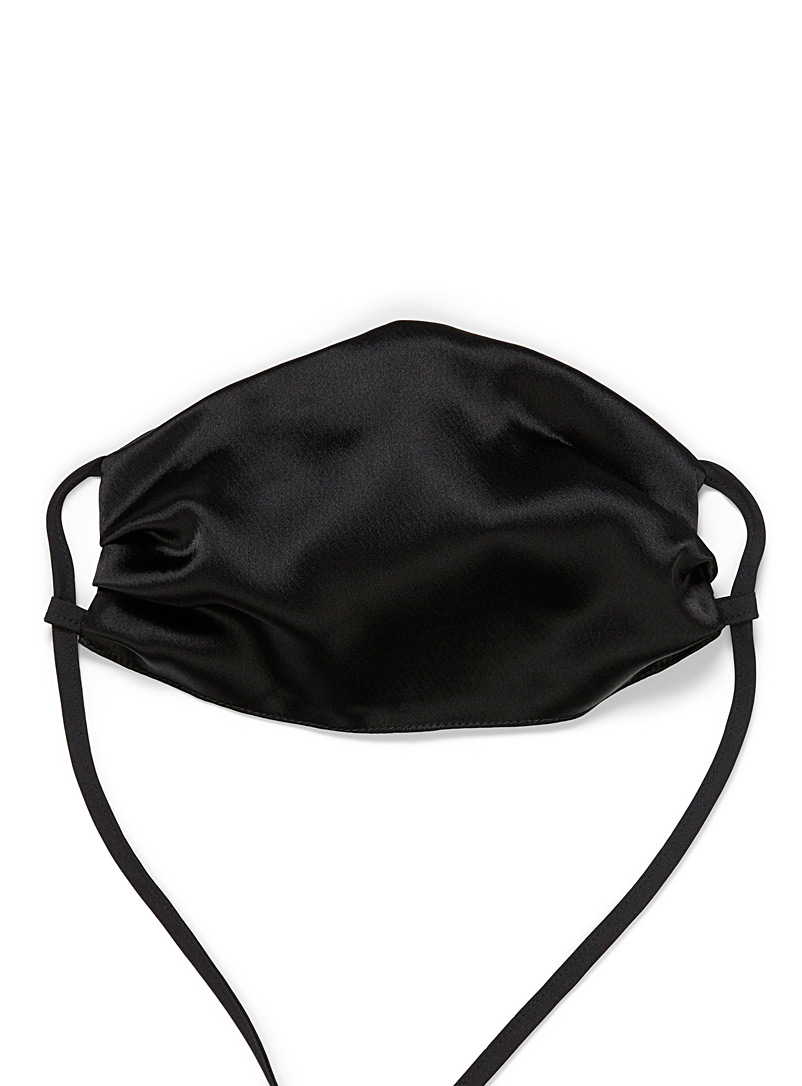 UNTTLD Black Satiny fabric mask for women