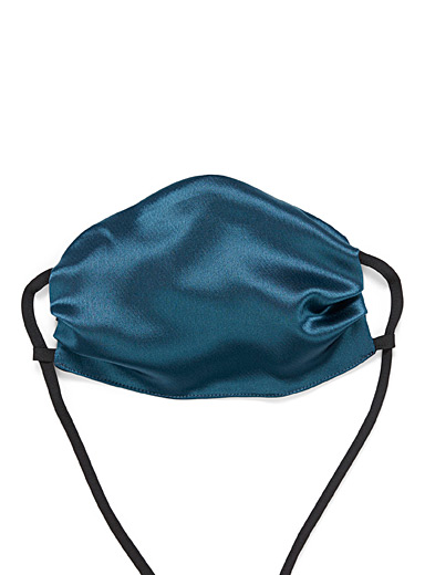 UNTTLD Teal Satiny fabric mask for women