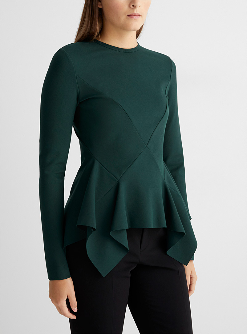 UNTTLD Green Mia flared top for women