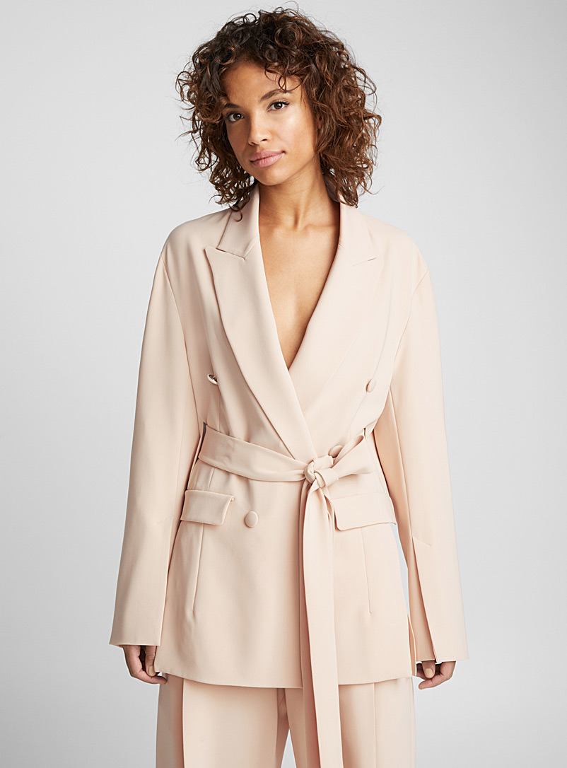 Isaac belted jacket - UNTTLD - Tan