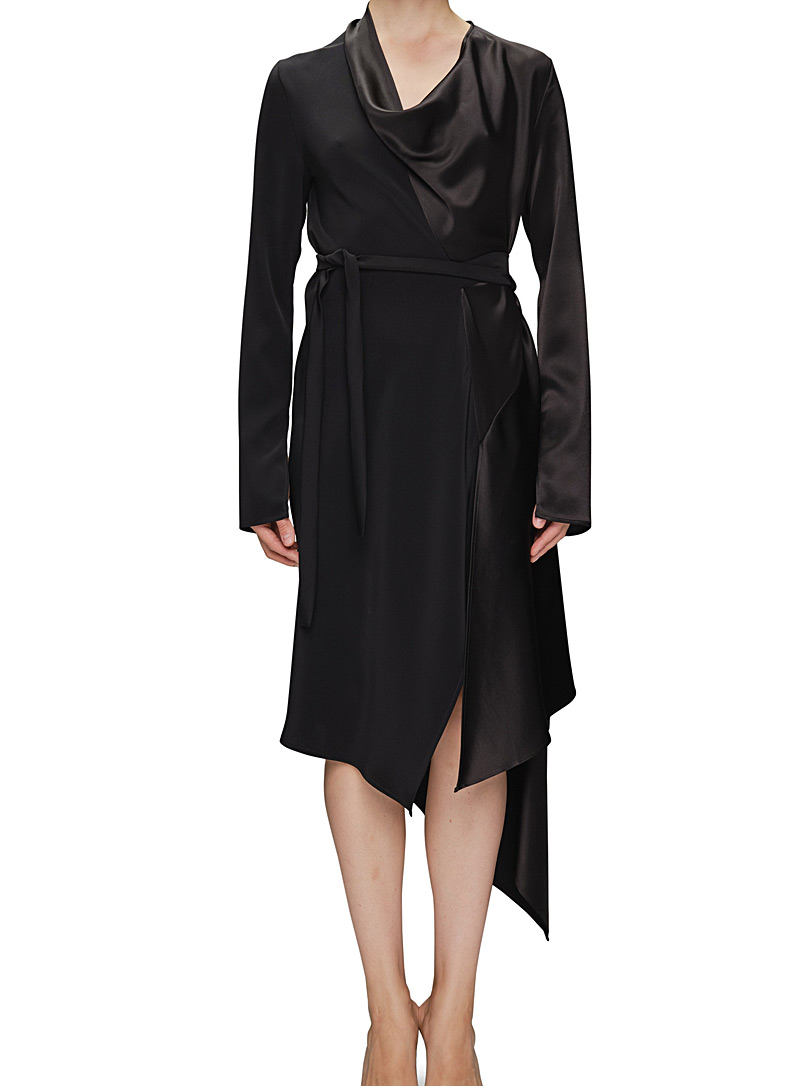 UNTTLD Black Cowl neck dress for women