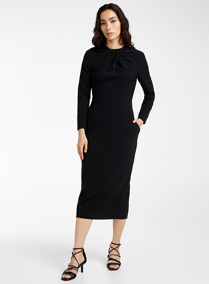 UNTTLD Black Knot Front dress for women