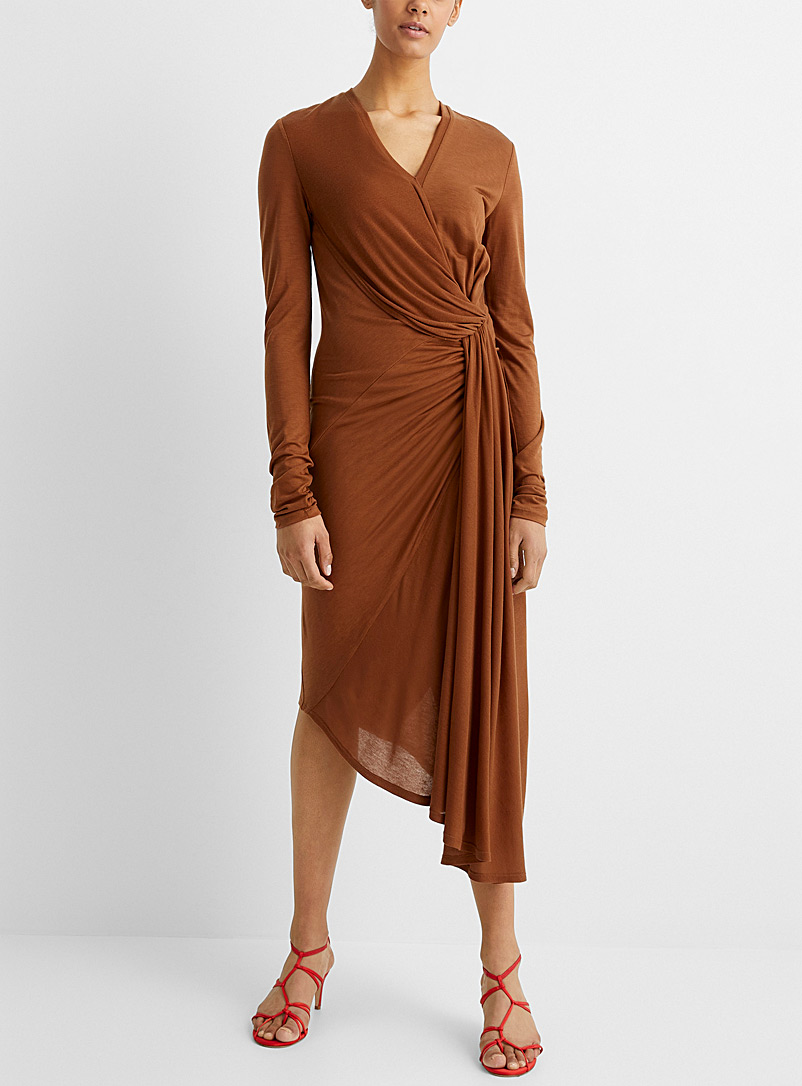 UNTTLD Toast Faux-knot draped dress for women