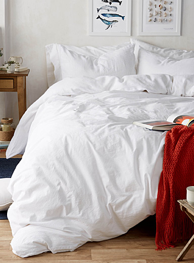 Premium pure linen duvet cover set