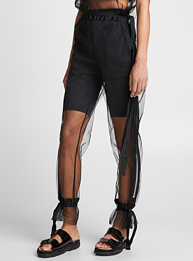High-rise tulle pant