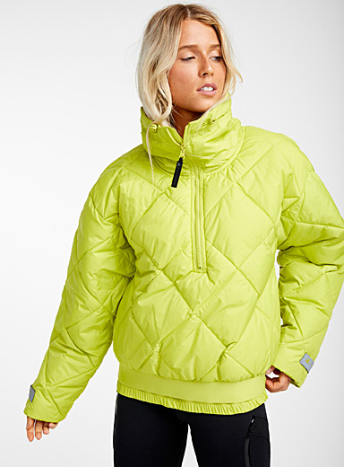 Lime quilted anorak