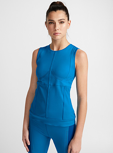 Perforated bustier tank