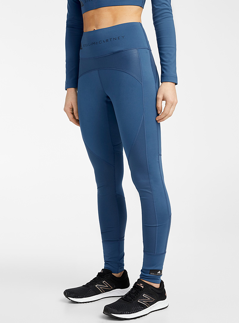 Adidas Stella McCartney Dark Blue Believe peacock blue legging for women